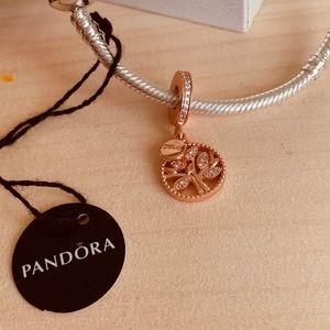 Pandora rose family tree charm